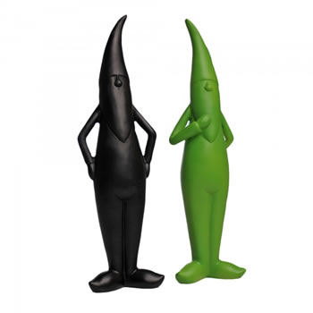 Image of Modern Design Garden Gnome Ornaments In Coloured Resin