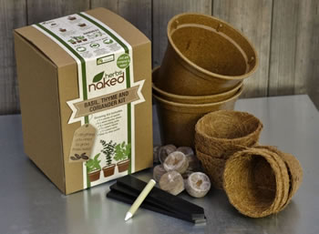 Image of Naked Herbs - Complete Herb Growing Kit