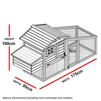 Extra image of Windsor L Chicken Coop & Run