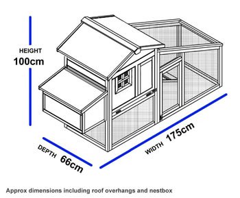 Extra image of Hybrid Chicken Coop and Run