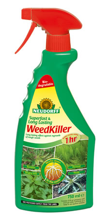 Image of Neudorff Super Fast Long Lasting Biodegradeable Weedkiller Spray, 750ml