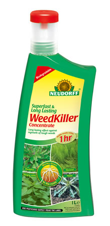 Image of Neudorff Super Fast Long Lasting Biodegradeable Weedkiller Concentrate, 1 litre