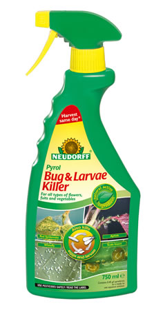 Image of Neudorff Pyrol Natural Insect Killer Spray: Whitefly, aphids, thrips etc, 750ml