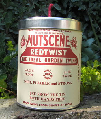 Image of Authentic Nutscene Tin O' Twine Jute String 150m:Red
