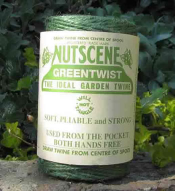 Image of Nutscene Heritage Jute Twine String 120m Spool 3-Ply Tangle Free Green