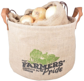 Image of Hessian Onion Drawstring Storage Bag