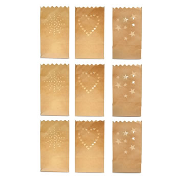 Image of Three Pack Set of Flame Retardant Paper Tealight / Candle Bags (9)