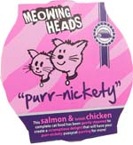 Small Image of Meowing Heads Purr-Nickety 85g x 8 made with 90% chicken & salmon