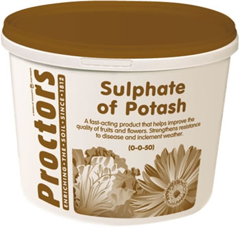 Image of 5kg tub of Proctors sulphate of potash general garden fertiliser soil improver