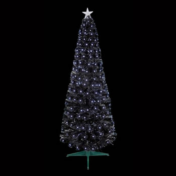 Image of Premier 1.2m Black Slim Christmas Tree With White LEDs (FT183124)