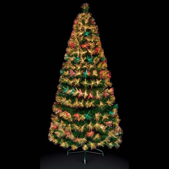 Image of Premier 1.2m Colour Change Firework Burst Christmas Tree with Warm White LEDs (FT171085)