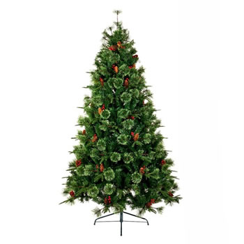 Image of Premier 2.1m Cannock Fir Christmas Tree with Berries & Pine Cones (TR700CHF)