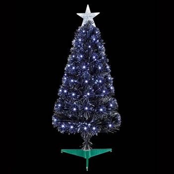 Image of Premier 80cm Black Slim Christmas Tree With White LEDs (FT183123)