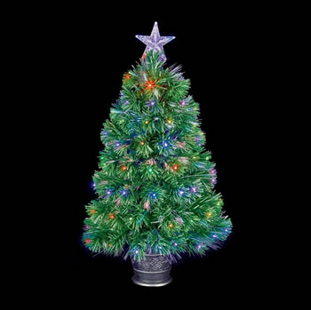 Image of Premier 80cm Green Christmas Tree with LEDs (FT141154)
