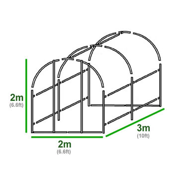 Extra image of 3m x 2m Polytunnel