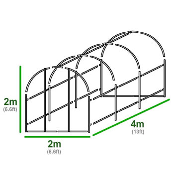 Extra image of 4m x 2m Polytunnel