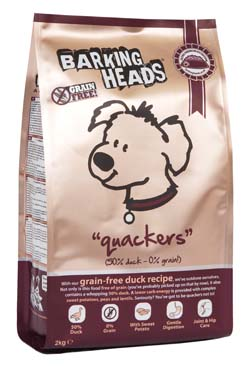 Image of BarkingHeads Quackers GRAIN FREE 2KG made with 50% Duck content