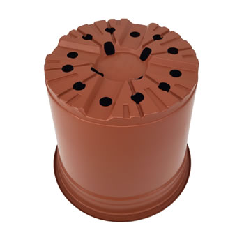 Image of Nutley's Round Modiform 22cm Terracotta Plastic Plant Pots (Pack of 50)