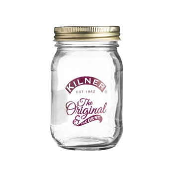 Image of 6 x Kilner 400ml Decorated Red Preserve Jars