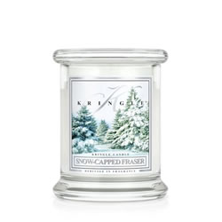 Small Image of Kringle 8.5oz Snow-Capped Fraser Small Classic Jar Christmas Candle (0002-000101)