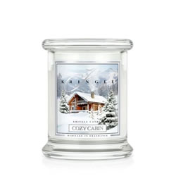 Small Image of Kringle 8.5oz Cozy Cabin Small Classic Jar Christmas Candle (0002-000112)