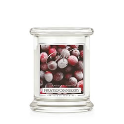 Small Image of Kringle 8.5oz Frosted Cranberry Small Classic Jar Christmas Candle (0002-000387)