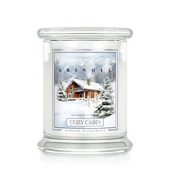 Small Image of Kringle 14.5oz Cozy Cabin Medium Classic Jar Christmas Candle with 2 Wicks (0067-000112)