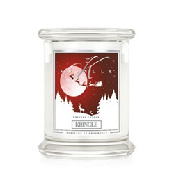 Small Image of Kringle 14.5oz Kringle Medium Classic Jar Christmas Candle with 2 Wicks (0067-000386)