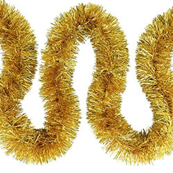 Small Image of 3 x 2m (6m) Gold Fine Cut 7.5cm Christmas Tree Tinsel