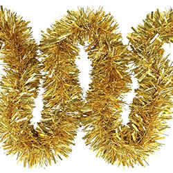 Small Image of 3 x 2m (6m) Gold Chunky Cut 10cm Christmas Tree Tinsel