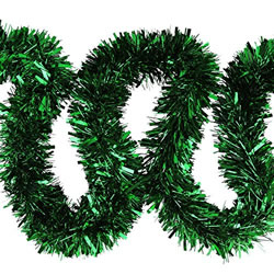 Small Image of 3 x 2m (6m) Green Chunky Cut 10cm Christmas Tree Tinsel