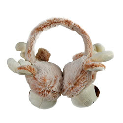 Small Image of Cosy Christmas Reindeer Plush Ear Muffs