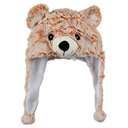 Small Image of Cosy Christmas Bear Plush Winter Hat