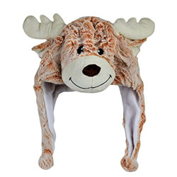 Small Image of Cosy Christmas Reindeer Plush Winter Hat