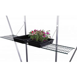 Small Image of Speed Shelf 11in Mesh Greenhouse Shelf Green