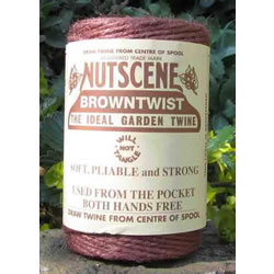 Small Image of 3 Rolls Nutscene Twine Jute String for Home & Garden 120m, brown