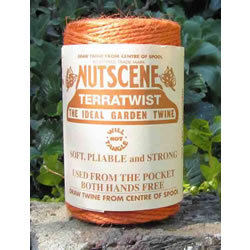 Small Image of 3 Rolls Nutscene Twine Jute String for Home & Garden 120m, orange