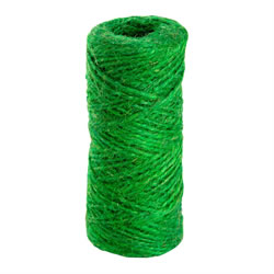 Small Image of 100m (328ft) Green Jute Twine String for Gardening, Craft, Flowers