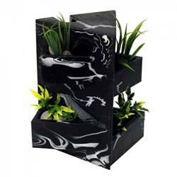 Small Image of Fluval EDGE Black Marble Ornament