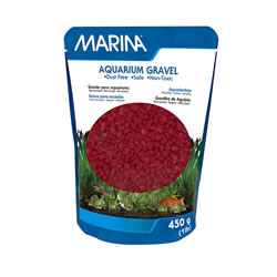 Small Image of Marina Decorative Aquarium Gravel Red 450g