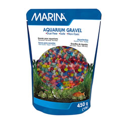 Small Image of Marina Decorative Aquarium Gravel Rainbow 450g