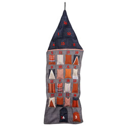 Small Image of Contemporary House Hanging Advent Calendar for Christmas
