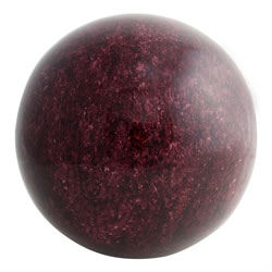 Small Image of Dark Red Granite Effect Stainless Steel Garden Sphere Ornaments (25cm)