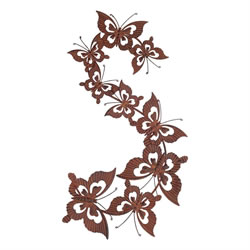 Small Image of Rusty Metal Butterfly Swarm Wall Art Garden or Home Ornament