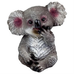 Small Image of Cute Sitting 15cm Koala Polyresin Garden Animal Ornament