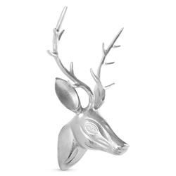 Small Image of Large 42cm Aluminium Stag's Head Wall Art Sculpture Ornament