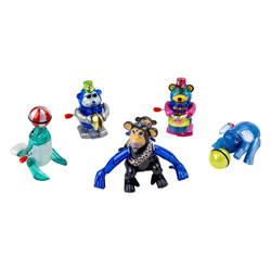Small Image of Set of 5 Circus Animal Wind-up Toys Kids Party Bag & Stocking Fillers