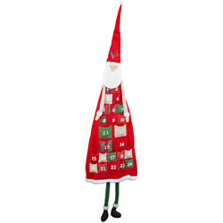 Small Image of Extra Large Hanging Father Christmas Fabric Advent Calendar