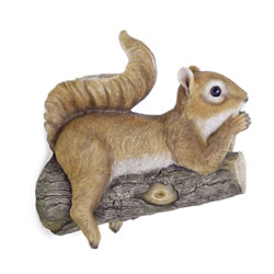 Small Image of Fenton the Realistic Lazy Garden Squirrel Ornament for Tree or Wall Mount
