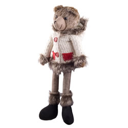 Small Image of Balthasar the 48cm Large Shelf Edge Sitting Plush Bear in Hoodie Christmas Ornament
